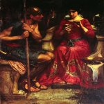 John William Waterhouse (6 April 1849  10 February 1917)  Jason and Medea  Oil on canvas, 1907  134 cm &#215; 107 cm (53 in &#215; 42 in)  Private collection